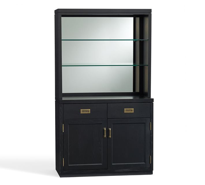 Ken Fulk for Pottery Barn Mirrored Cabinet Bar